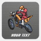 Faux Carbon Fibre Motocross Square Sticker