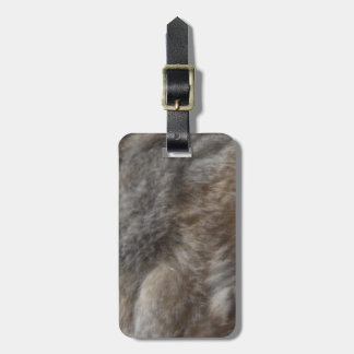 Faux Cat Fur look Luggage Tag