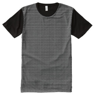 Faux Chainmail Mesh Links All-Over-Print T-Shirt
