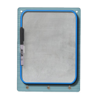 Faux Chalkboard And Blue Neon Dry Erase Board