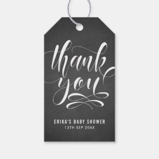 Faux Chalkboard Hand Lettering Thank You Gift Tag