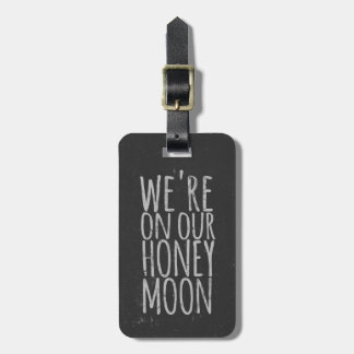 Faux Chalkboard Honeymoon Travel Bag Tag