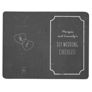Faux Chalkboard Wedding Checklist Pocket Journal