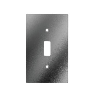 Faux Charcoal Metallic Light Switch Cover