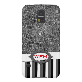 Faux Chrome Mini Box Background Template Galaxy S5 Case