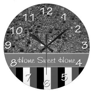 Faux Chrome Mini Box Background Template Large Clock