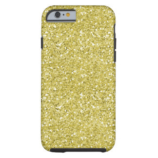 Faux chunky gold glitter patttern electronics tough iPhone 6 case