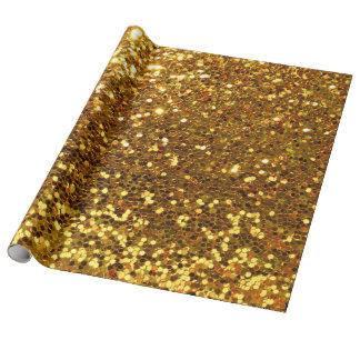 faux chunky gold sparkling glitter wrapping paper