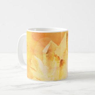 *~* Faux Citrine Crystal Healing Energy Chakra Coffee Mug