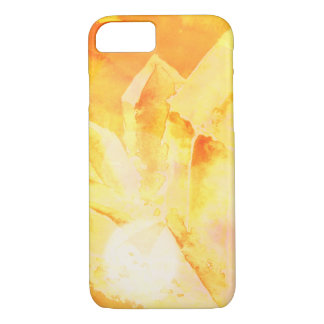 *~* Faux Citrine Crystal Healing Energy Chakra iPhone 8/7 Case