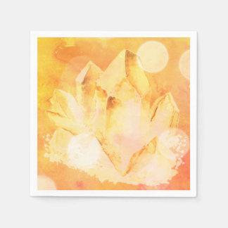 *~*  Faux Citrine Crystal Healing Energy Chakra Napkin