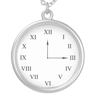 Faux Clock Necklace