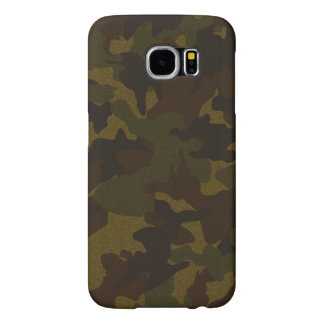 Faux Cloth Brown Camo Military Samsung S6 Cases Samsung Galaxy S6 Cases