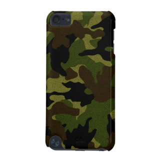 Faux Cloth Green Camo Military Camouflage Pattern iPod Touch (5th Generation) Covers