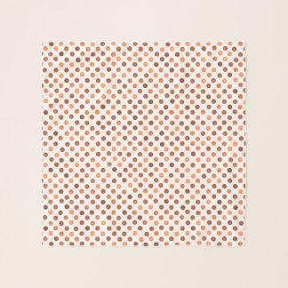Faux copper polka dots design scarf