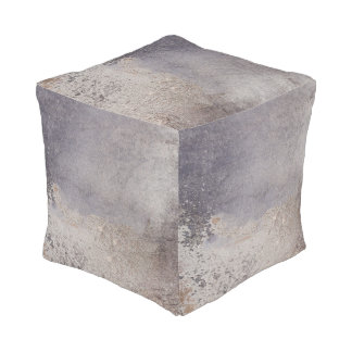 Faux Corroded Metal poufs