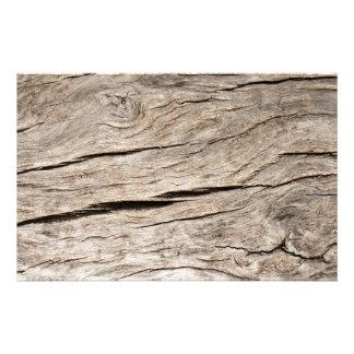 Faux Cracked Tree Bark Stationery