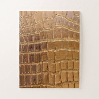 Faux Crocodile Leather Animal Skin Pattern Jigsaw Puzzle