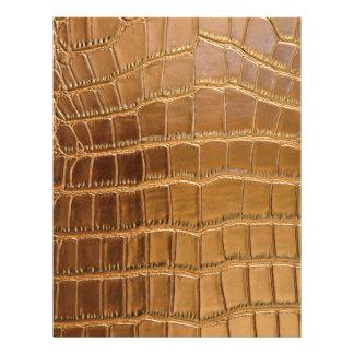 Faux Crocodile Leather Animal Skin Pattern Letterhead