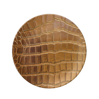 Faux Crocodile Leather Animal Skin Pattern Plate