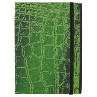 """Faux Crocodile /Snake Skin pattern on green iPad Pro 12.9"""" Case"""