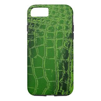 Faux Crocodile /Snake Skin pattern on green iPhone 8/7 Case