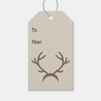 Faux Cutout - Antlers - Gift Tag #2 Pack Of Gift Tags