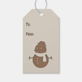 Faux Cutout - Snowman - Gift Tag #1 Pack Of Gift Tags
