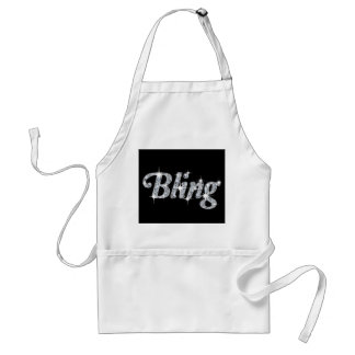 Faux Diamond Bling Design Apron