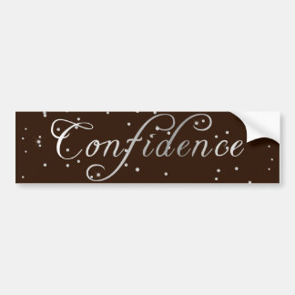 Faux Diamond Silver Confidence Bumper Sticker