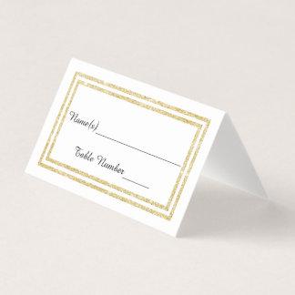 Faux Double Gold Glitter Trim - Escort Card