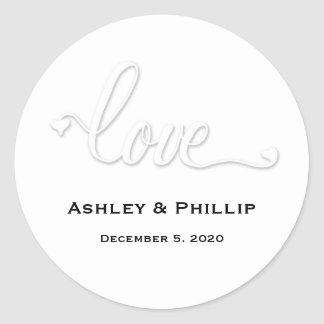 Faux Embossed Love Sticker