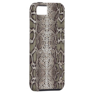 Faux / Fake snakeskin, greens and grays iPhone 5 Cover
