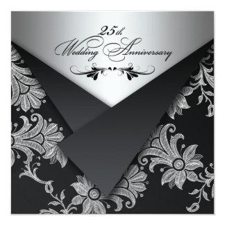 FAUX Flaps 25th Wedding Anniversary Invitation