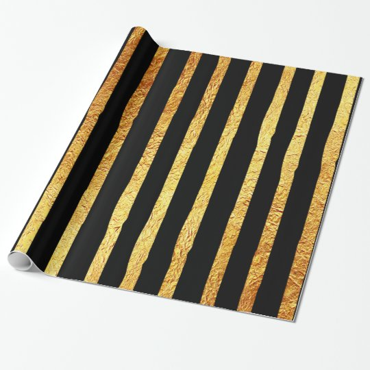 Faux Foil Gold Stripe Background Stripes Texture