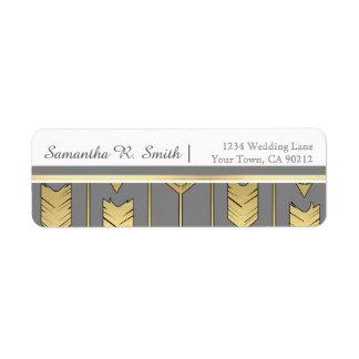 Faux Foil Golden Arrows Gray