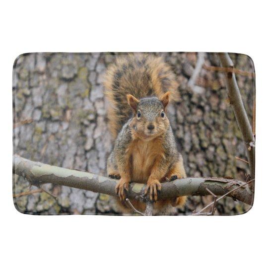 Faux fox squirrel bath mat
