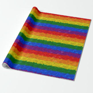 Faux Fur Rainbow Wrapping Paper