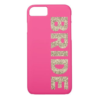 Faux Glitter Bride iPhone 7 Case in Pink