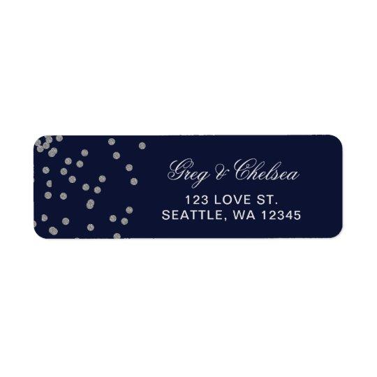 FAUX Glitter confetti navy and silver wedding
