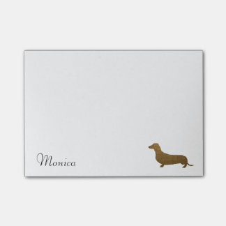Faux Glitter Dachshund Icon | Custom Name Template Post-it Notes