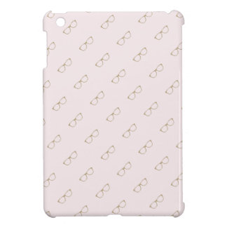 Faux Glitter Gold Glasses Pink iPad Mini Case