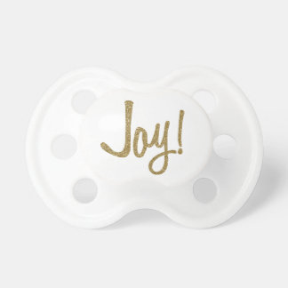 Faux Glitter Gold Joy Pacifier