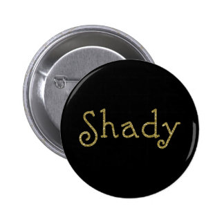 Faux Glitter Gold Shady 2 Inch Round Button