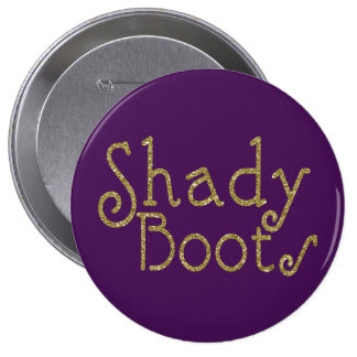 Faux Glitter Gold Shady Boots 4 Inch Round Button