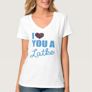 Faux Glitter hearts and Latkes T-Shirt