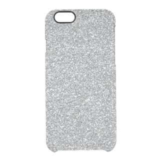 Faux glitter iPhone 6 Uncommon case silver