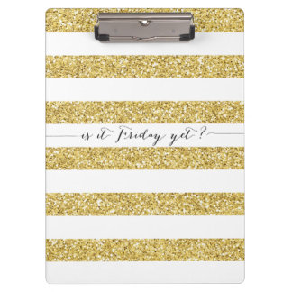 Faux Glitter Is It Friday Yet? Clipboard