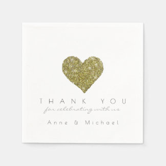 faux glitter love heart wedding reception party paper napkin