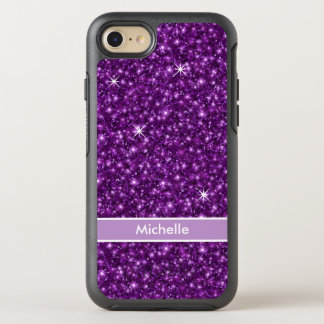 Faux Glitter Monogram OtterBox Symmetry iPhone 8/7 Case